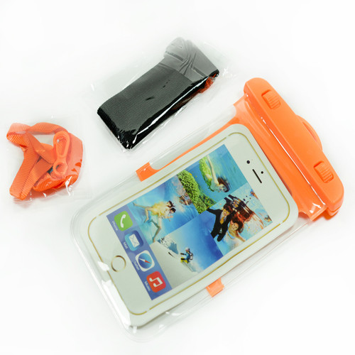 Orange Frame Waterproof Case for Iphone Android Phones