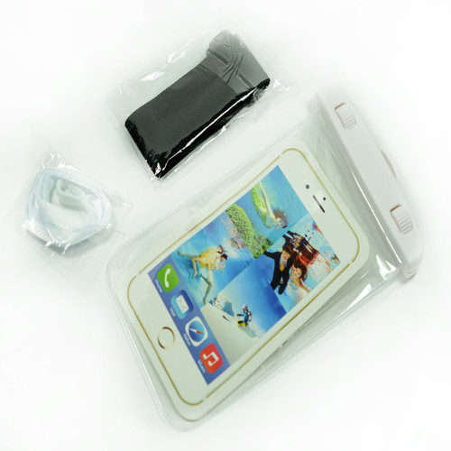 White Frame Universal Waterproof Case for Iphone Android Phones