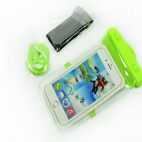 Green Frame Universal Waterproof Case for Iphone Android Phones
