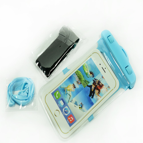 Blue Frame Universal Waterproof Case for Iphone Android Phones