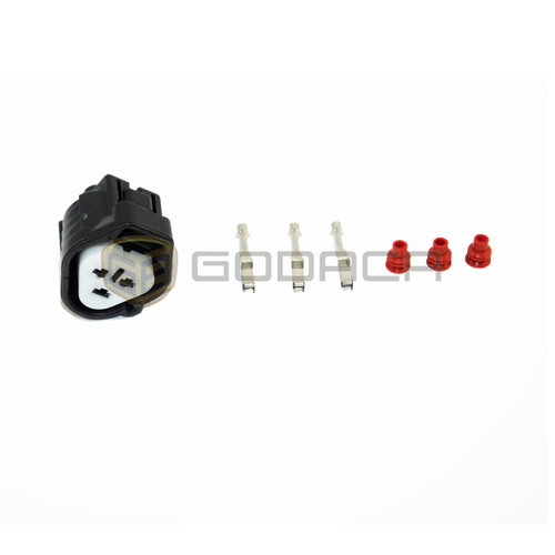 1x Connector 3 Pin 3-way for Toyota Headlight 90980-11016 w/out wire