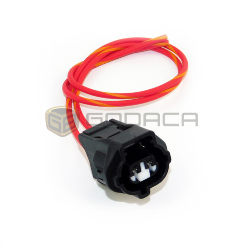 1x 2 Pin 2-way Connector For Toyota Lexus 90980-11235