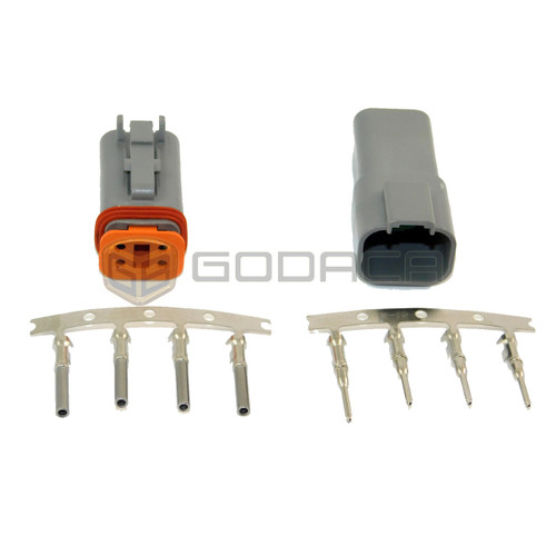 1x 4 Pin Female and male Connector DT Deutsch DT06-4S 4P w/out wire