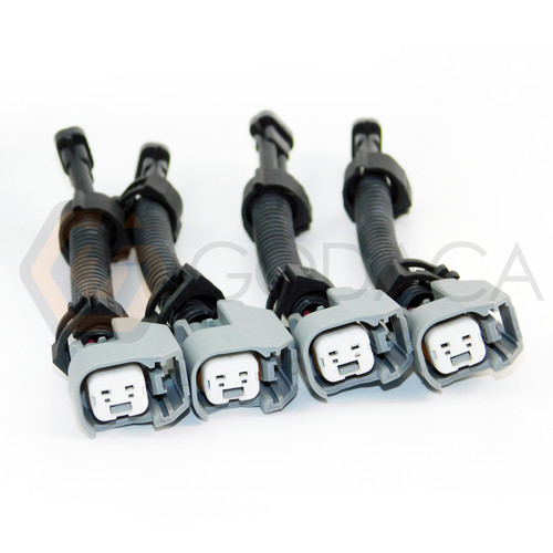 4x Wiring Harness Adapter EV14 EV6 to male Delphi MFP Fuel injector for GM