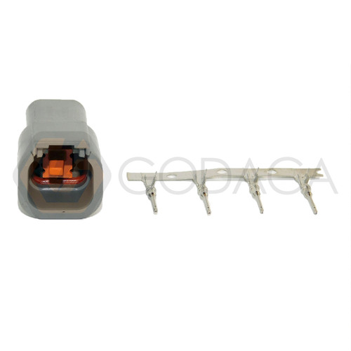 1x 4 Pin 4-way male Connector DTM Deutsch DTM04-4P w/out wire