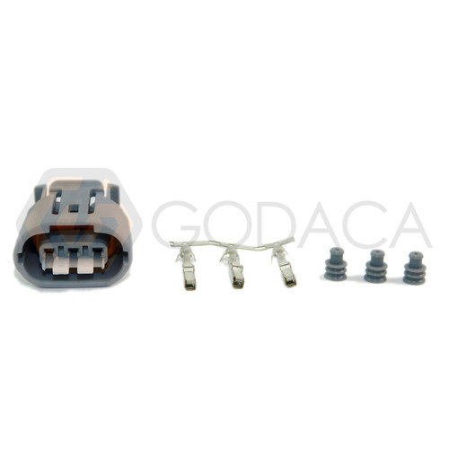 1x Connector 3-Way 3 pin for Denso Alternator Toyota 90980-11349 w/out wire