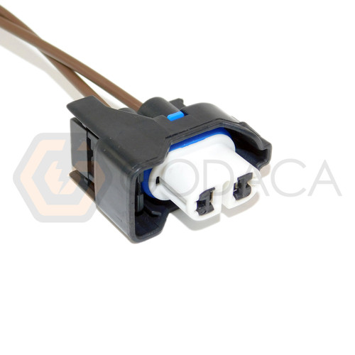 1x Connector 2 pin 2-way for Fog light Lamp Ford WPT-904