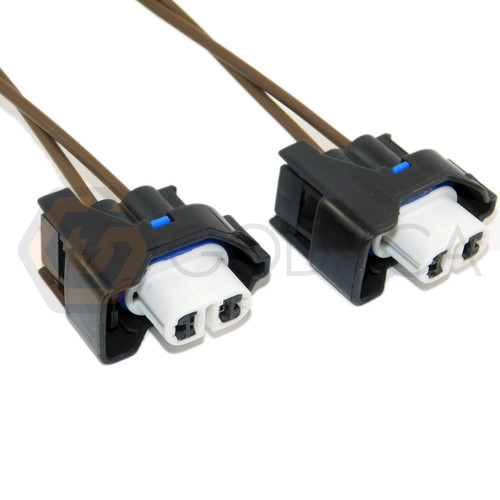 2x Connector 2 pin 2-way for Fog light Lamp Ford WPT-904