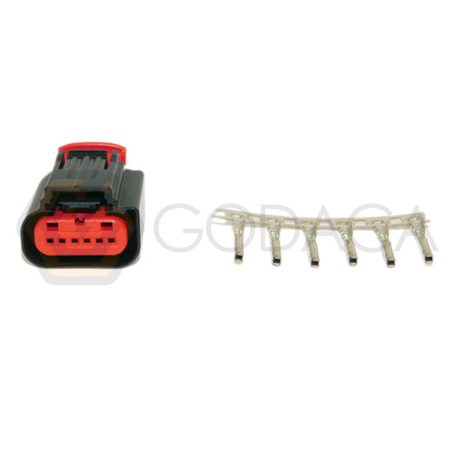 1x Connector 6-way 6 pin for Ford TPS WPT-1063 w/out wire
