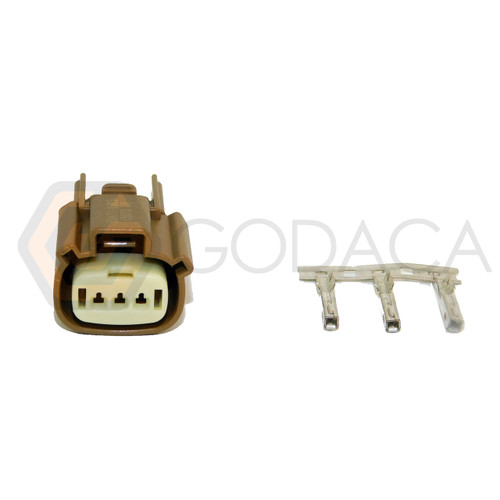 1x Connector 3-way 3 pin for Ford Ignition Coil WPT-1284 w/out wire