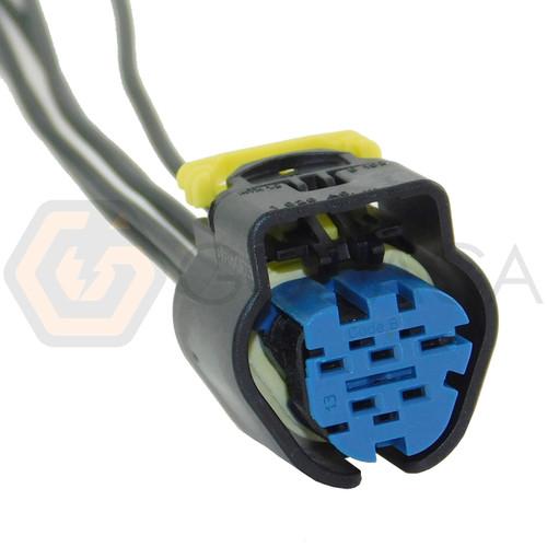 1x Connector 5-way for Fuel Rail Pressure Sensor WPT-1418