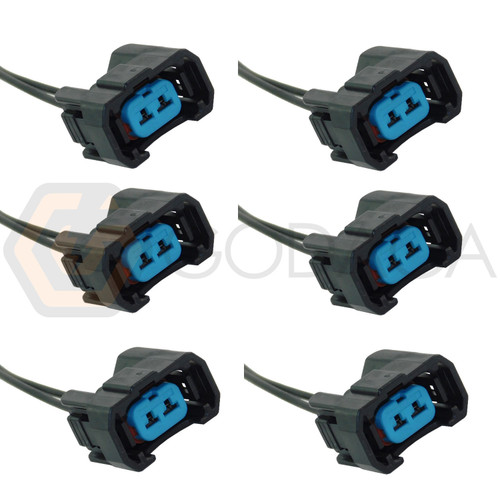 6x Connector 2-way for Fuel Injector 06164-P8A-A00