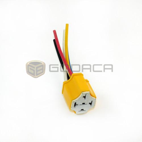 1 x Connector Socket Harness Ceramic Relay 5 Pin Ways Universal Heat Resistance