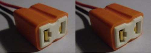 2 x Female Ceramic Headlight Connector Pigtail Plug Adapter Socket H7