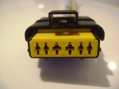 1x Connector 6-way for Mass air flow sensor 5WK9623 5WK9620