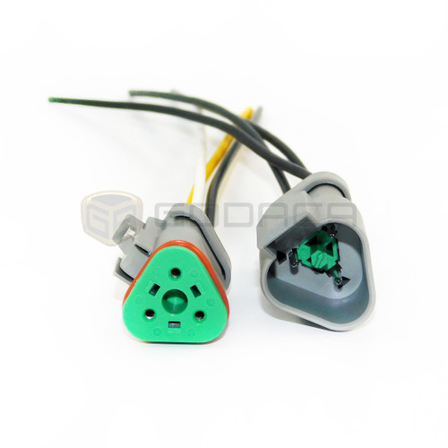 1 x Set Female and Male Connector Plug 3-way 3 pin Deutsch DT series with wire