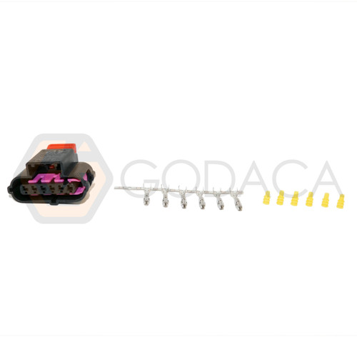 1x Connector 6-way 6 pin Accelerator Pedal Sensor Audi 8K0 973 706 w/out wire