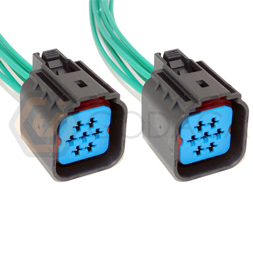 2x Connector 7-way 7 pin for Ford Mazda Headlamp WPT-596