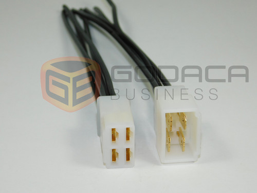 1x Female and Male Connector 4-way Universal 6.3mm 01020101000486