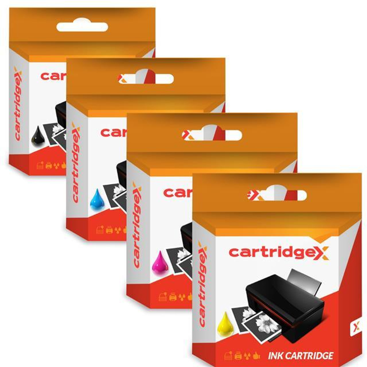 Compatible 4 Colour Epson T0715 Ink Cartridge Multipack (T0711 T0712 T0713 T0714 C13t07154010)