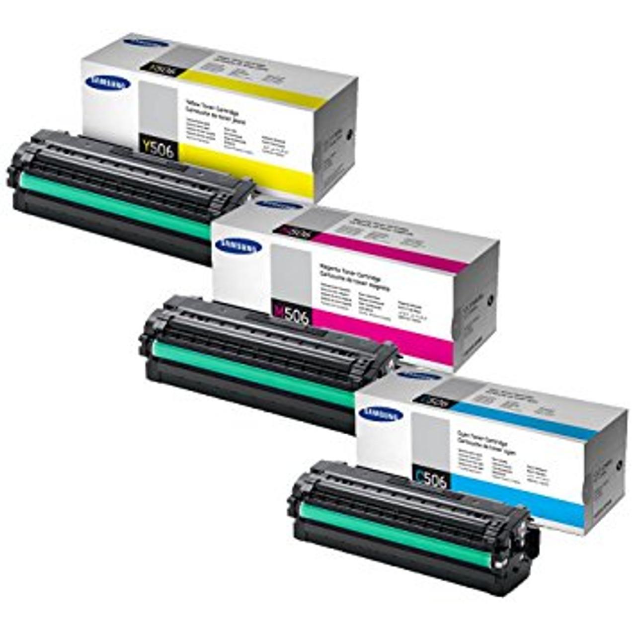 4 Samsung 506 Original Toner Cartridge Multipack (Samsung Clt-k506l/c506l/m506l/y506l)