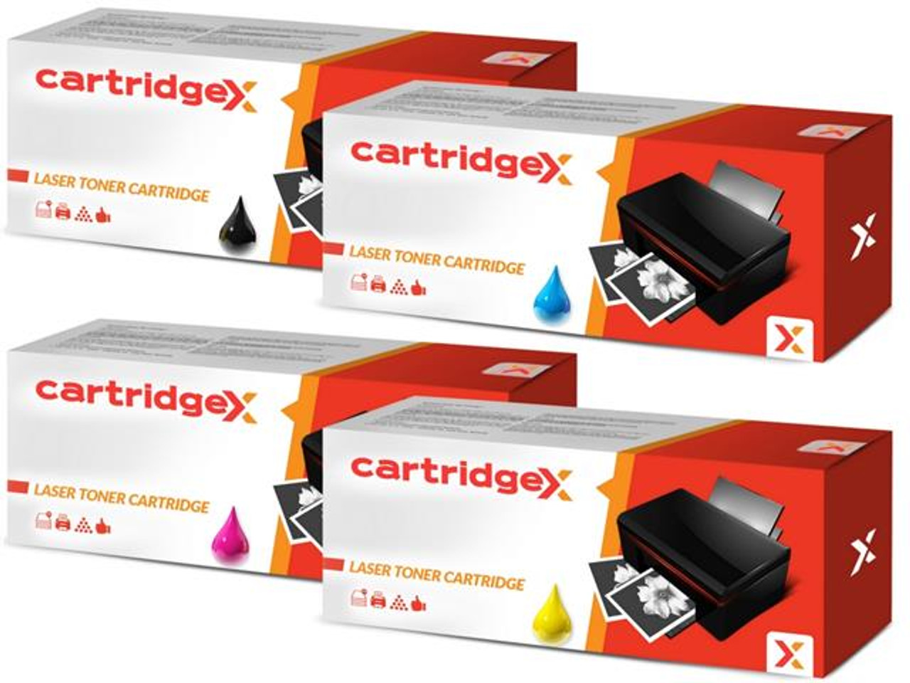 Compatible 4 Colour Samsung Clp-p300c Toner Cartridge Multipack
