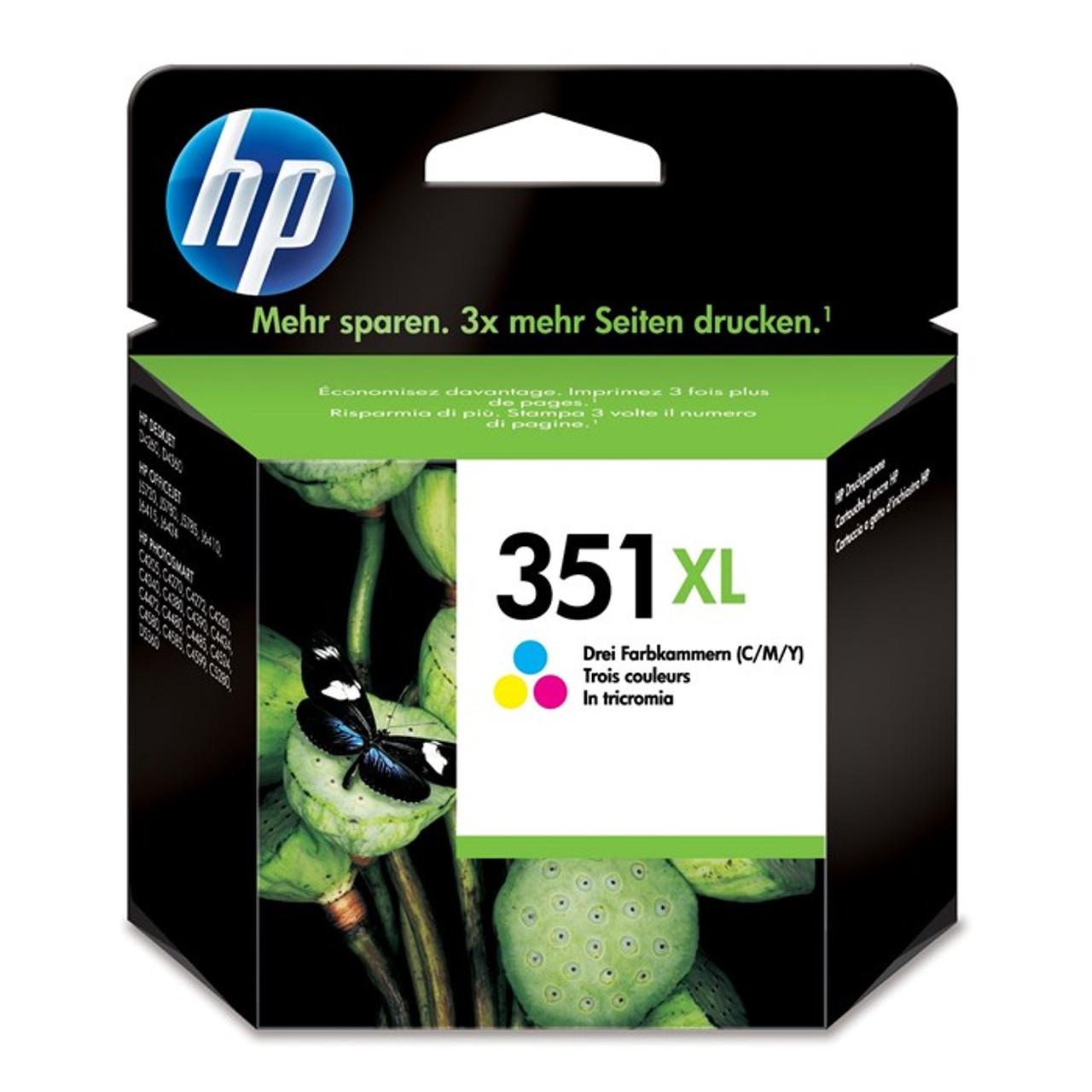 High Capacity Hp 351xl Original Black Ink Cartridge (Hp Vivera Cb338ee)