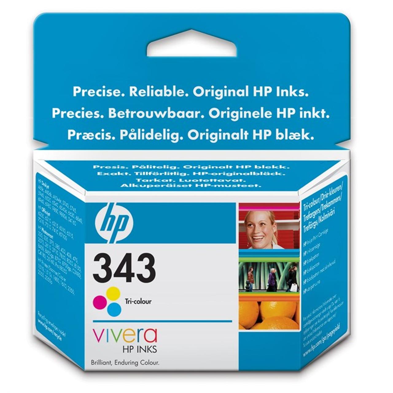 High Capacity Hp 343 Original Tri-colour Ink Cartridge (Vivera C8766ee)