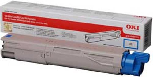 High Capacity Oki 43459331 Original Cyan Toner Cartridge  (43459331 Laser Printer Cartridge)