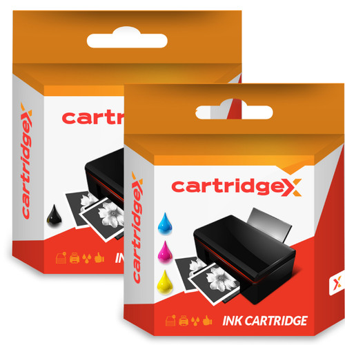 Compatible High Capacity Hp 338 Black & Hp 343 Tri-colour Ink Cartridge Multipack (Hp C8766ee & C8765ee)