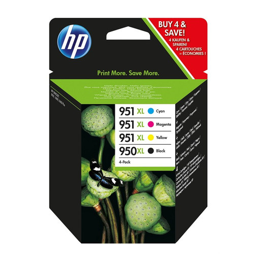 4 Colour High Capacity Hp 950xl & Hp 951xl Original Ink Cartridge Multipack (Hp Cn045ae Cn046ae Cn047ae Cn048ae)