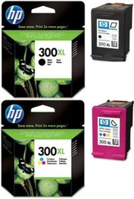 High Capacity Hp 300xl Black & Hp 300xl Tri-colour Original Ink Cartridge Multipack (Hp Cc641ee & Hp Cc644ee)