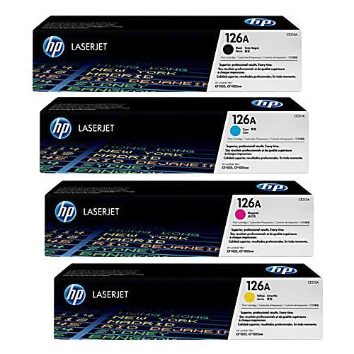 4 Colour Hp 126a Original Toner Cartridge Multipack (Hp Ce310a Ce311a Ce312a Ce313a)