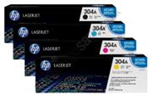 4 Colour Hp 304a Original Toner Cartridge Multipack (Hp Cc530a Cc531a Cc532a Cc533a)