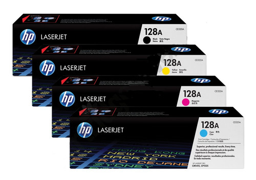 4 Colour Hp 128a Original Toner Cartridge Multipack (Hp Ce320a Ce321a Ce322a Ce323a)