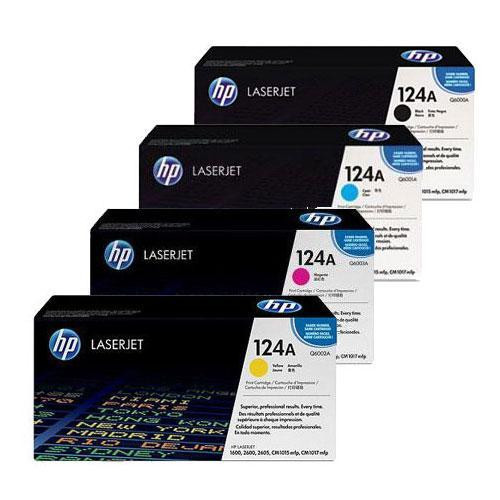 4 Colour Hp 124a Original Toner Cartridge Multipack (Hp Q6000a Q6001a Q6002a Q6003a)