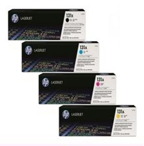 4 Colour Hp 131x / 131a Original Toner Cartridge (Hp Cf210x Cf211a Cf212a Cf213a)
