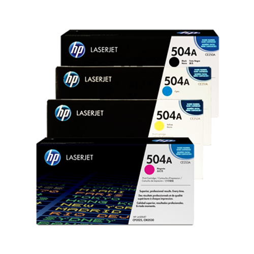 4 Colour Hp 504x 504a Original Toner Cartridge Multipack (Hp Ce250x Ce251a Ce252a Ce253a)