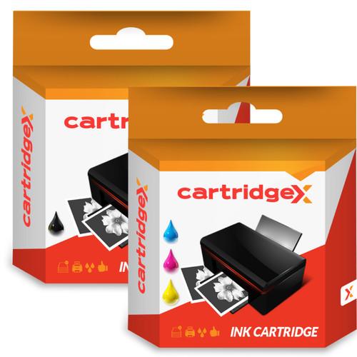 Compatible High Capacity Dell Mk992 Black & Dell Mk993 Tri-colour Ink Cartridge (Dell Series 9 Printer Cartridges)