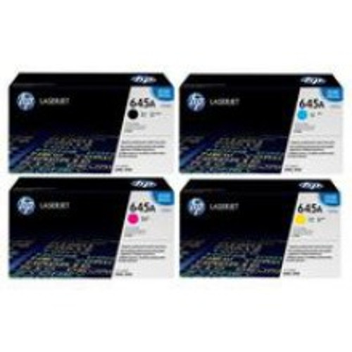 4 Colour Hp 645a Original Toner Cartridge Multipack (Hp C9730a C9731a C9732a C9733a)