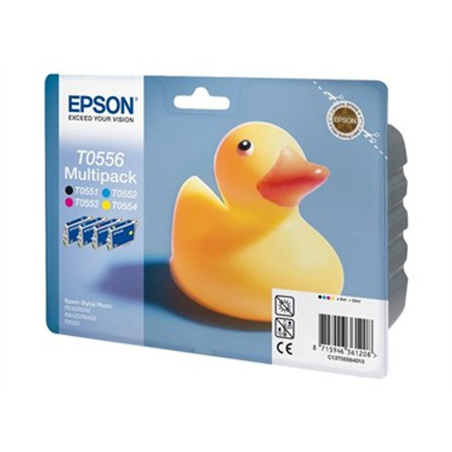 4 Colour Epson T0556 Original Ink Cartridge Multipack (T0551 T0552 T0553 T0554 C13t05564010)