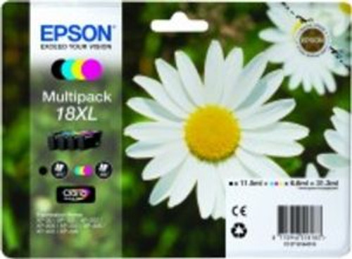 4 Colour High Capacity Epson 18xl T1816 Original Ink Cartridge Multipack (T1811 T1812 T183 T1814 C13t18164010)