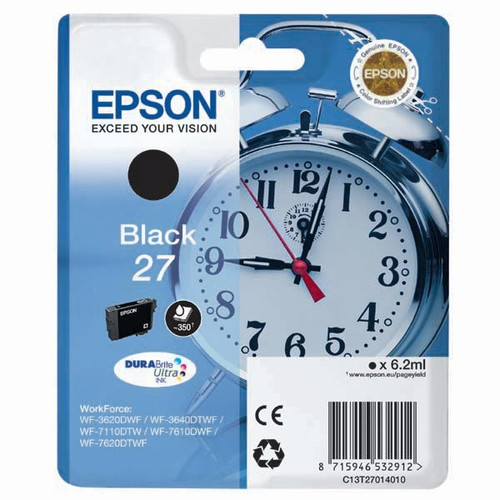 Epson 27 Black Original Ink Cartridge (T2701)