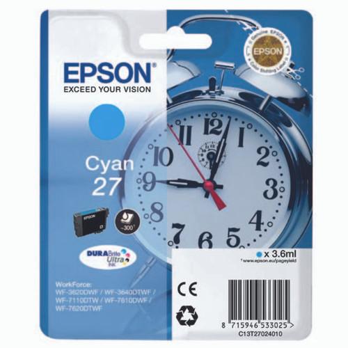 Epson 27 Cyan Original Ink Cartridge (T2702)