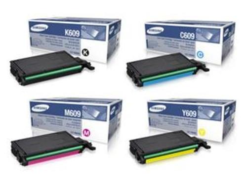 4 Samsung 609 Original Toner Cartridge Multipack (Samsung Clt-k6092s/c6092s/m6092s/y6092s)