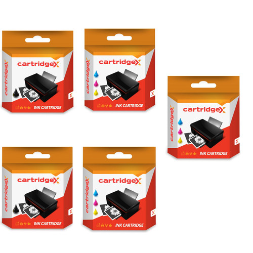Compatible 5 Ink Cartridges Abk10 & Aclr10 Set For Advent A10 Aw10 Awp10 Printer