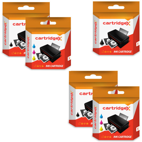 Compatible 6 Ink Cartridges Abk10 & Aclr10 Set For Advent A10 Aw10 Awp10 Printer