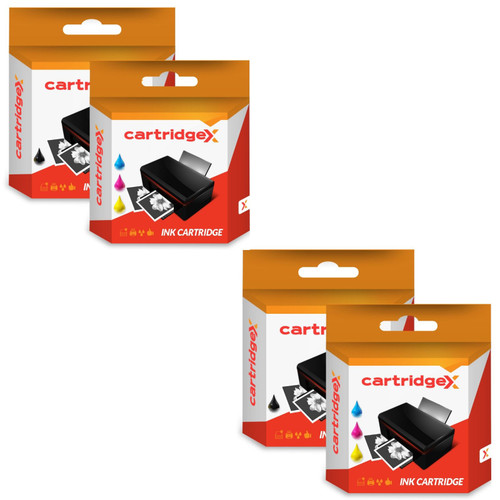 Compatible 4 Ink Cartridges Abk10 & Aclr10 Set For Advent A10 Aw10 Awp10 Printer