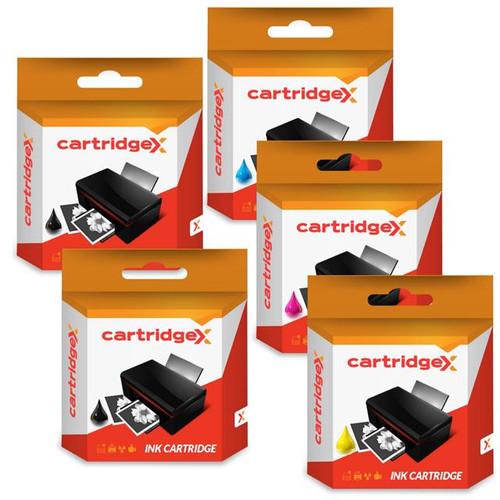 Compatible Set Of 5 Ink Cartridges For Pgi-525 & Cli-526 Canon Pixma Ip4850 Ip4950 Ix6550