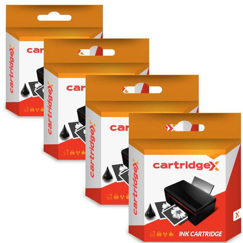 Compatible Set Of 4 X High Capacity Black Ink Cartridges For Hp 21xl / 21 C9351ce / C9351ae